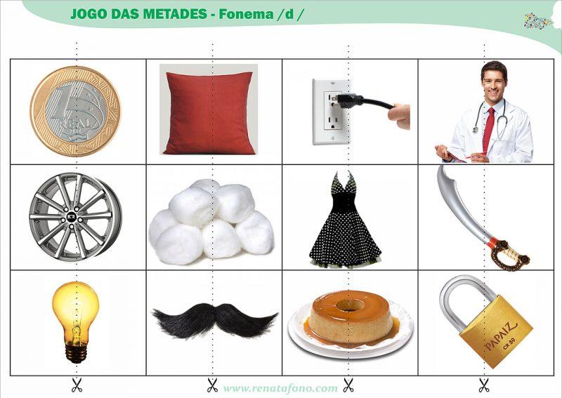 Jogo das Metades – Fonema /d/