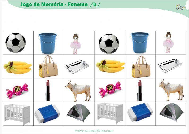 Jogo da Memória – Fonema /b/